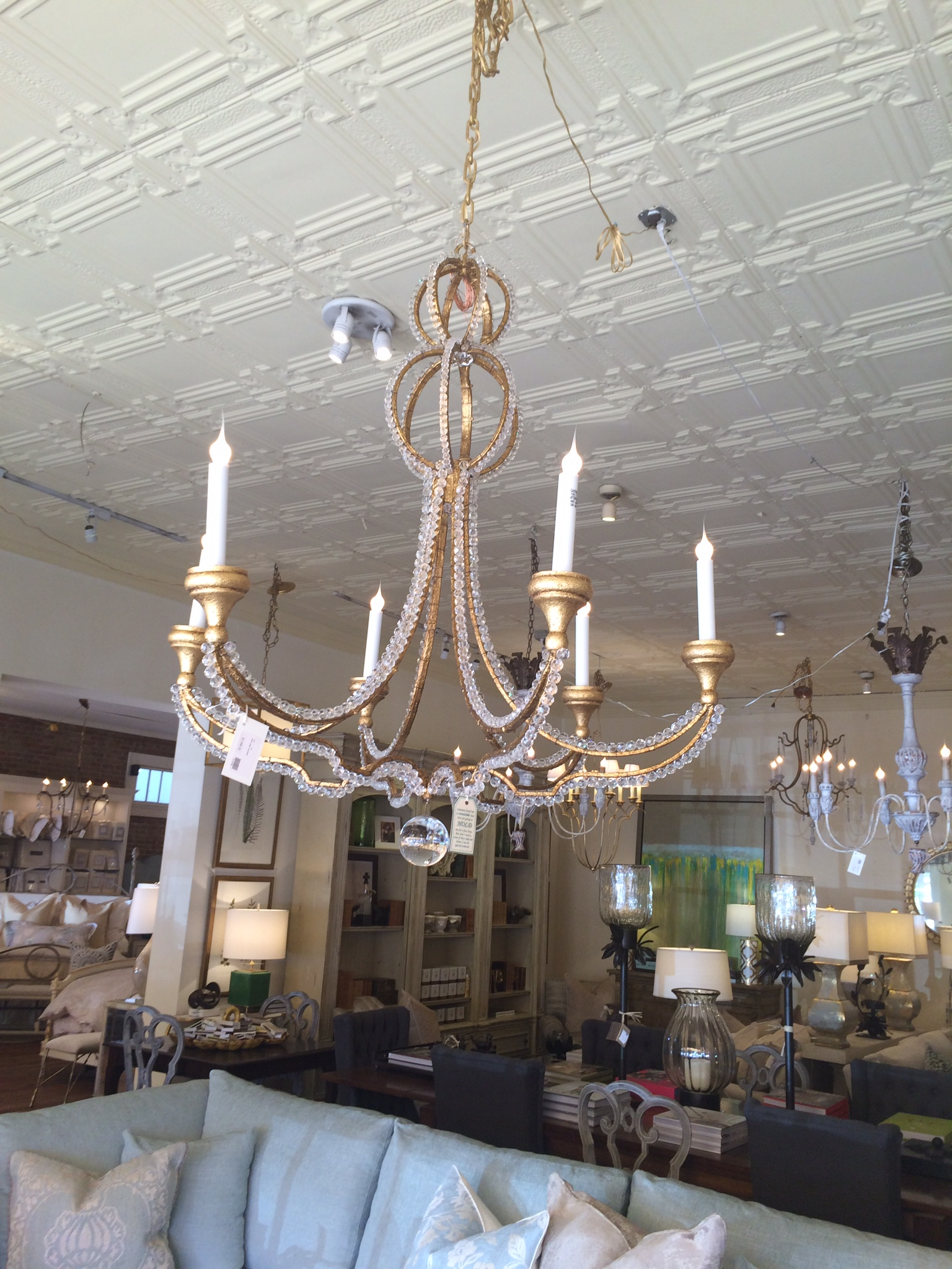 i'm thinking something like this for my mother's dining room chandelier