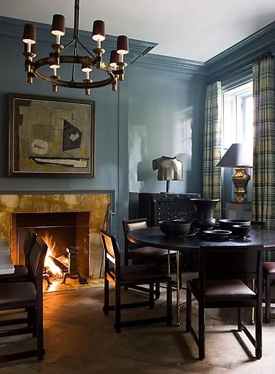 another beautiful paint color. I also love the fireplace surround