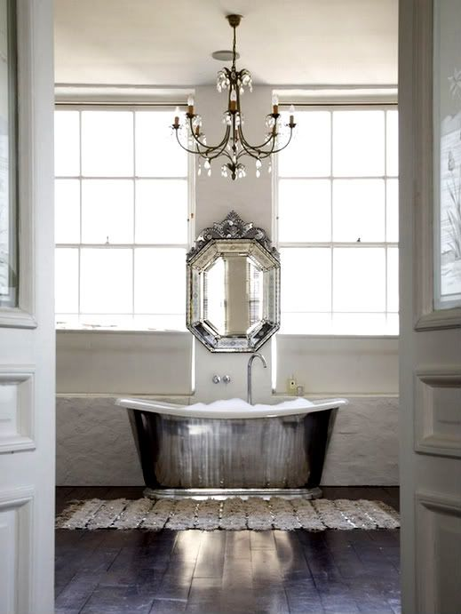 oh now come on!!!!  is that tub and mirror, window combo not to die for?  BYOW (Bring Your Own Wine) via  decor pad