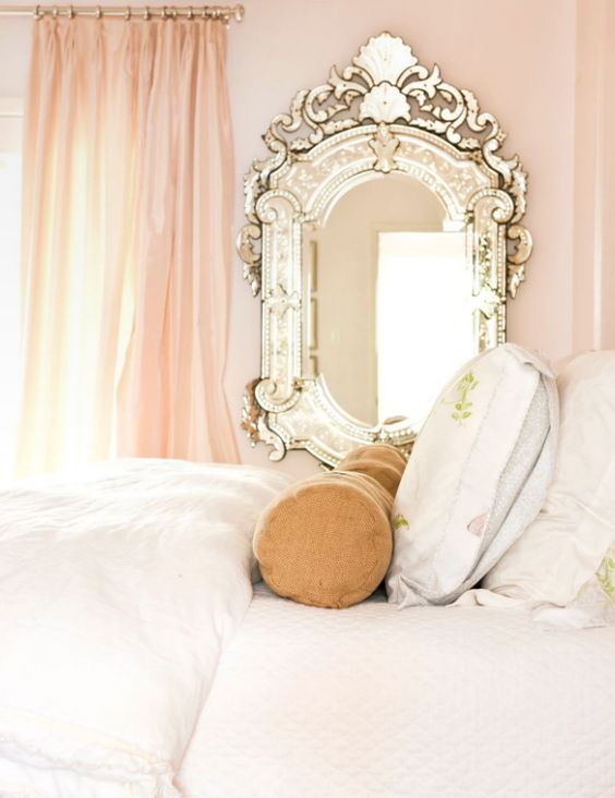 A venetian mirror is the perfect accessory for an ultra feminine little girls room.  I never thought I would be an ultra feminine little girl room lover, but i am.  I admit it.