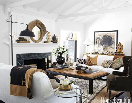What a bright  space , yet still has warmth with all the brown hues incorporated in the space