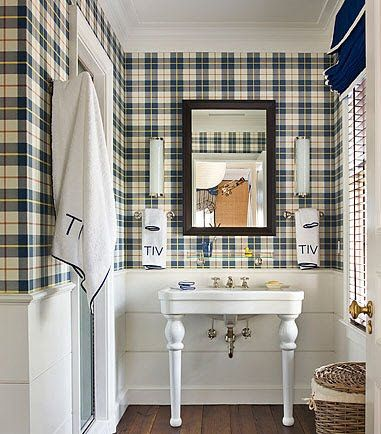 Monogram with a tartan plaid? Yes please, bring on the classics. designed by  Gil Schafer