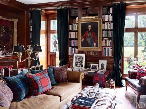 of course i had to include of one Ralph Lauren's homes. via  architectural digest