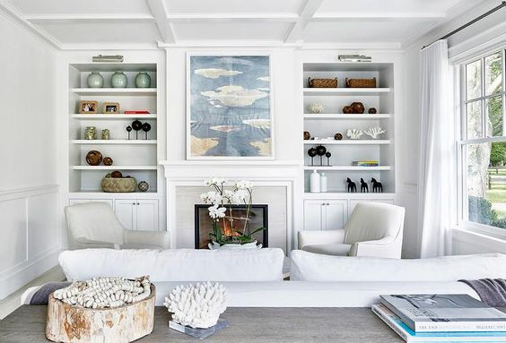 A serene room that proves white doesn't have to be cold.