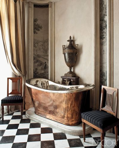 This, this is a special  bathroom  full of high end finishes and decor.