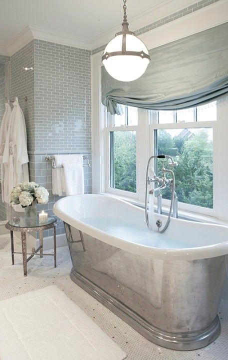 a calm, spa like bathroom.