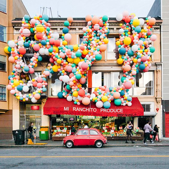 An installation to celebrate  Oh Joy 's 10 years of business.  Quite the fete.