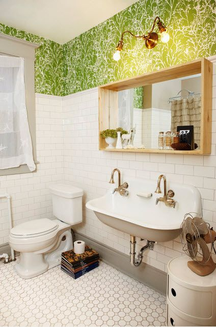 Remember, that  post  I did a few weeks ago about taupe making a come back? Why not bring the color into your bathroom?