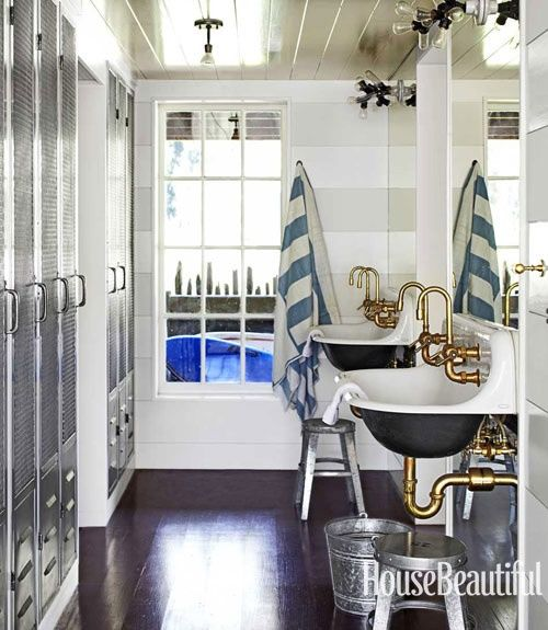 This whole house is perfection.  It's a nod to nautical, but doesn't shout it out to you.  Trust me, go see the rest of this house at  House Beautiful . (Mother, that means click the underlined House Beautiful and you can see the whole house.) ;)