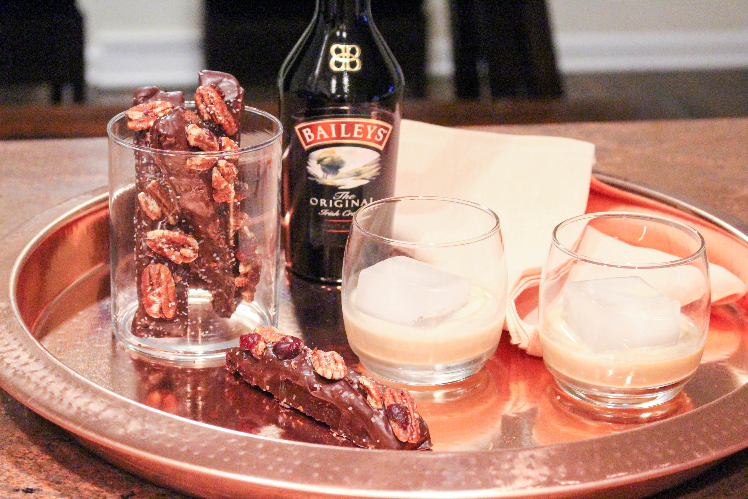 Baileys and Candied Biscotti