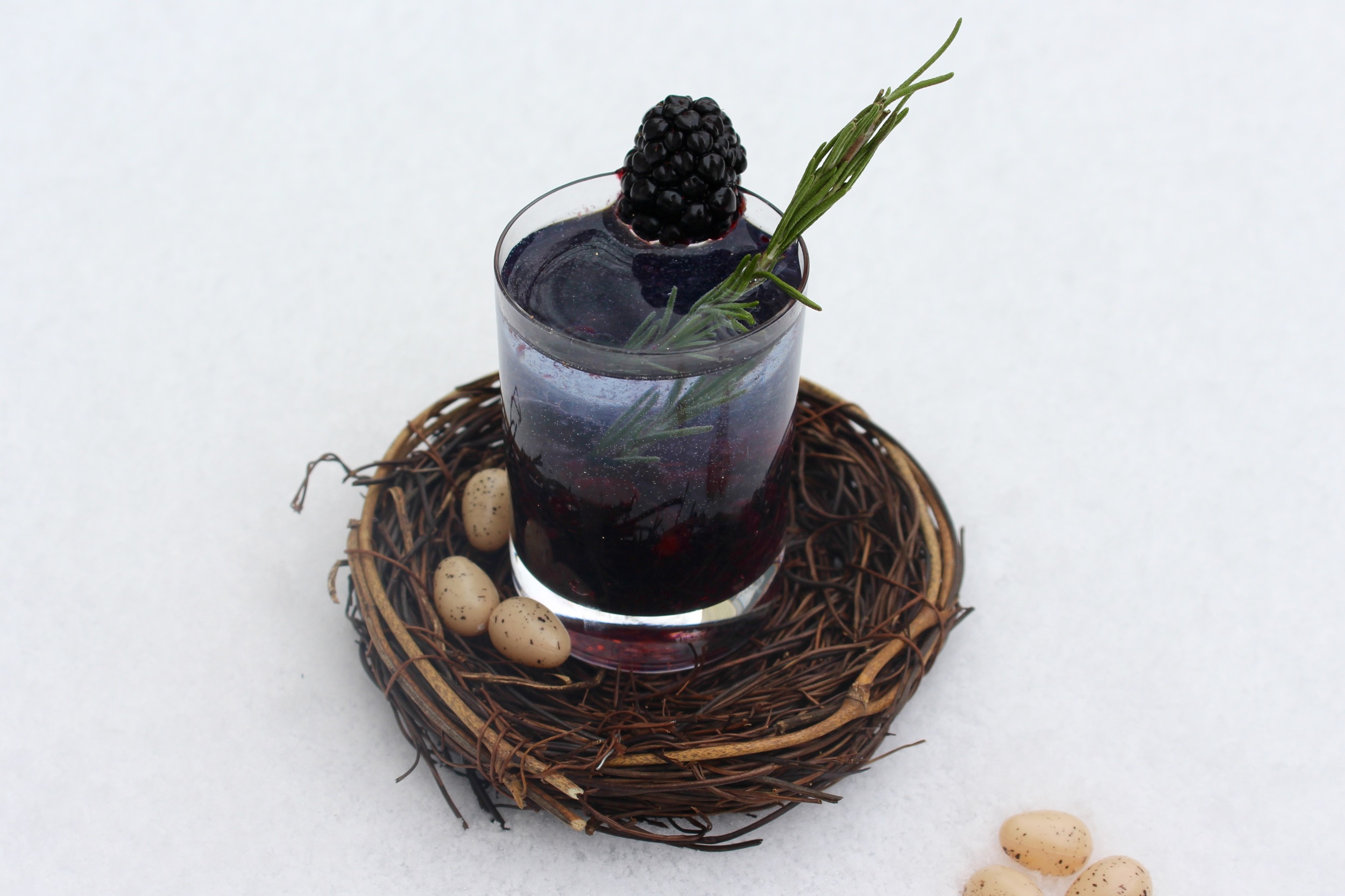 Blackberry Vodka Shot