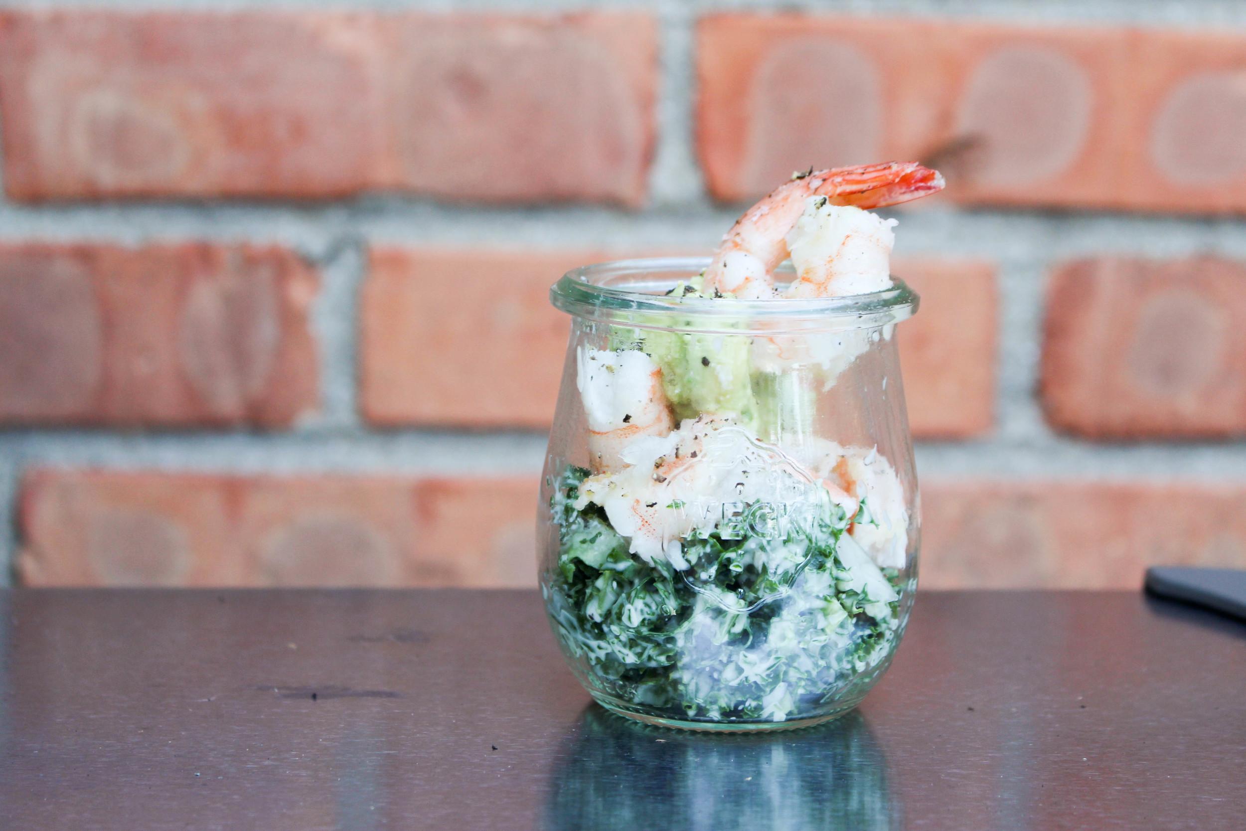 Kale Avocado Shrimp