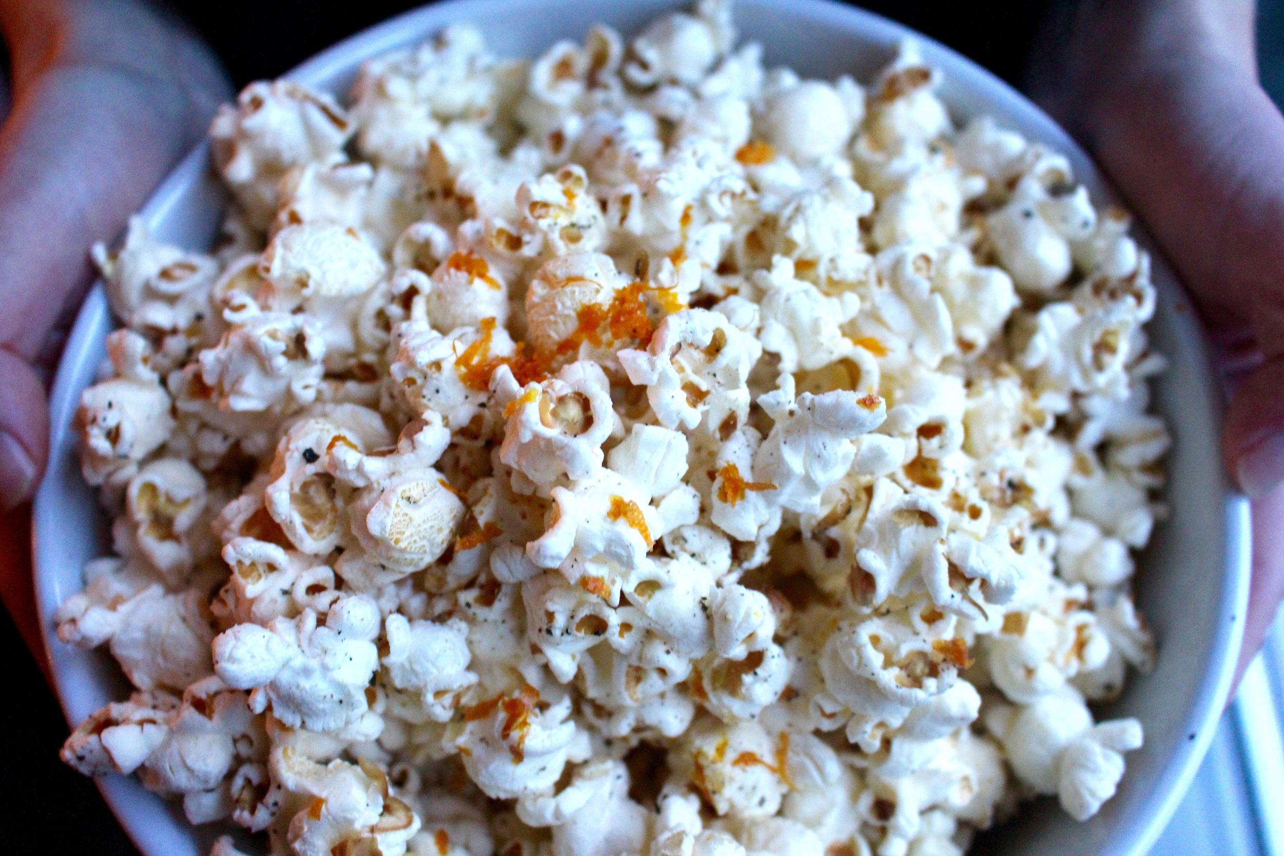 Orange Black Pepper Popcorn