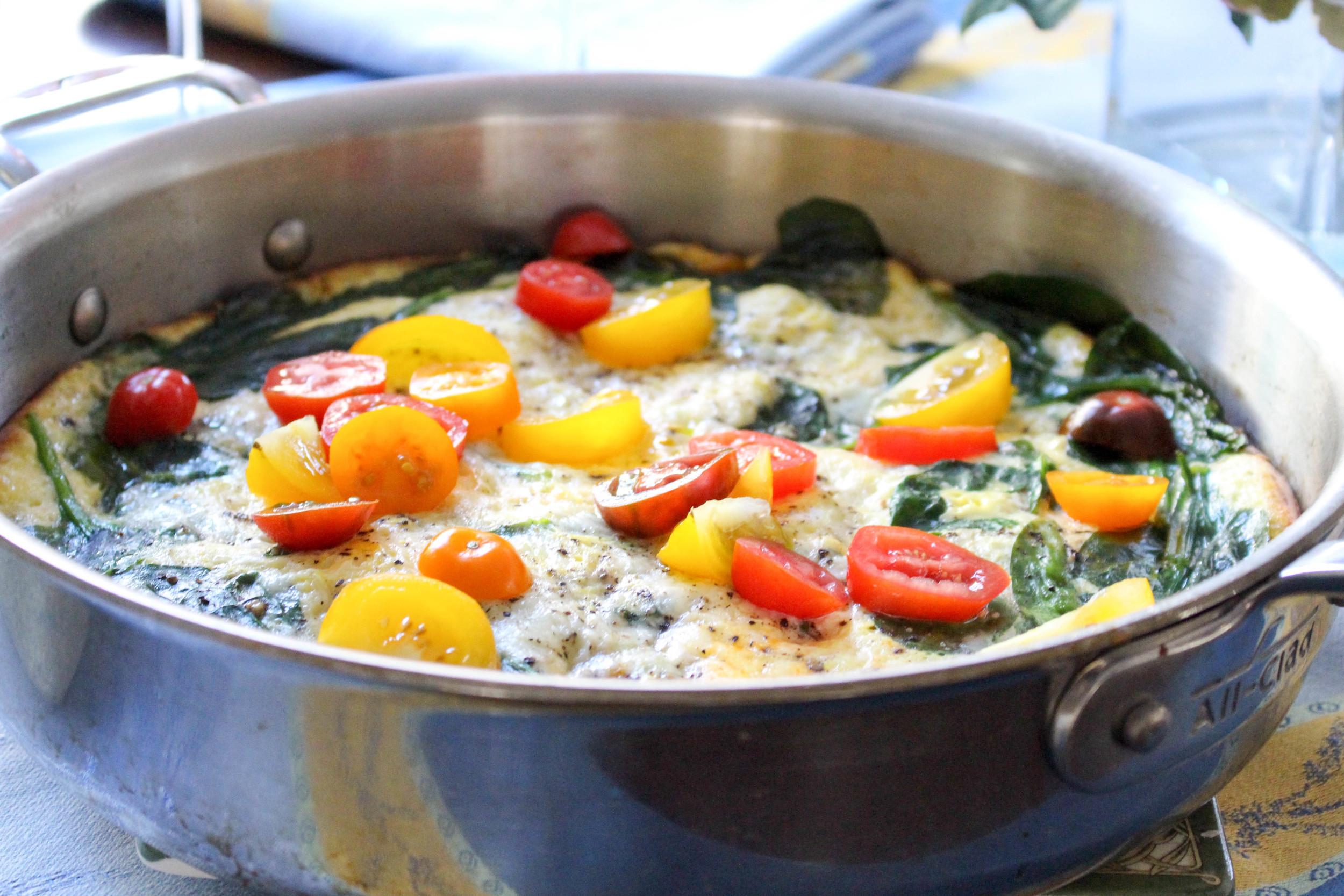 Tricolor Tomato Frittata
