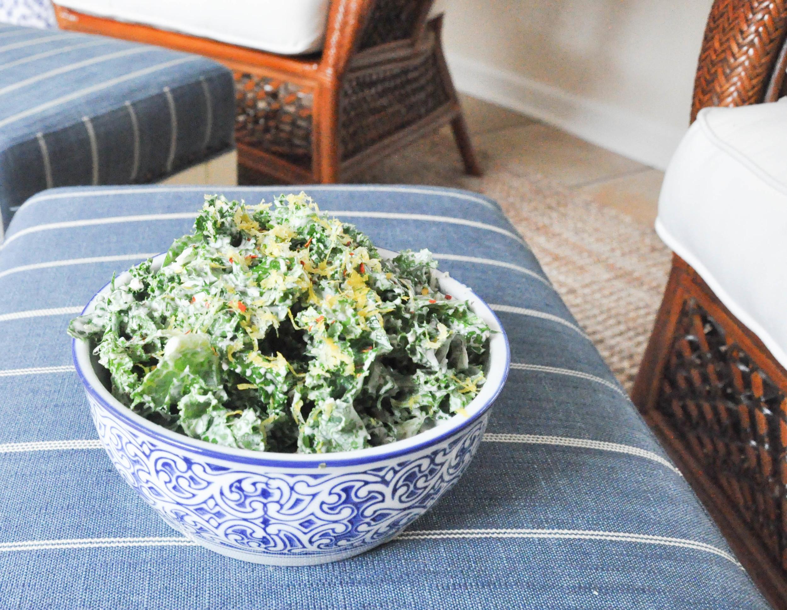 Kale Greek Yogurt Salad