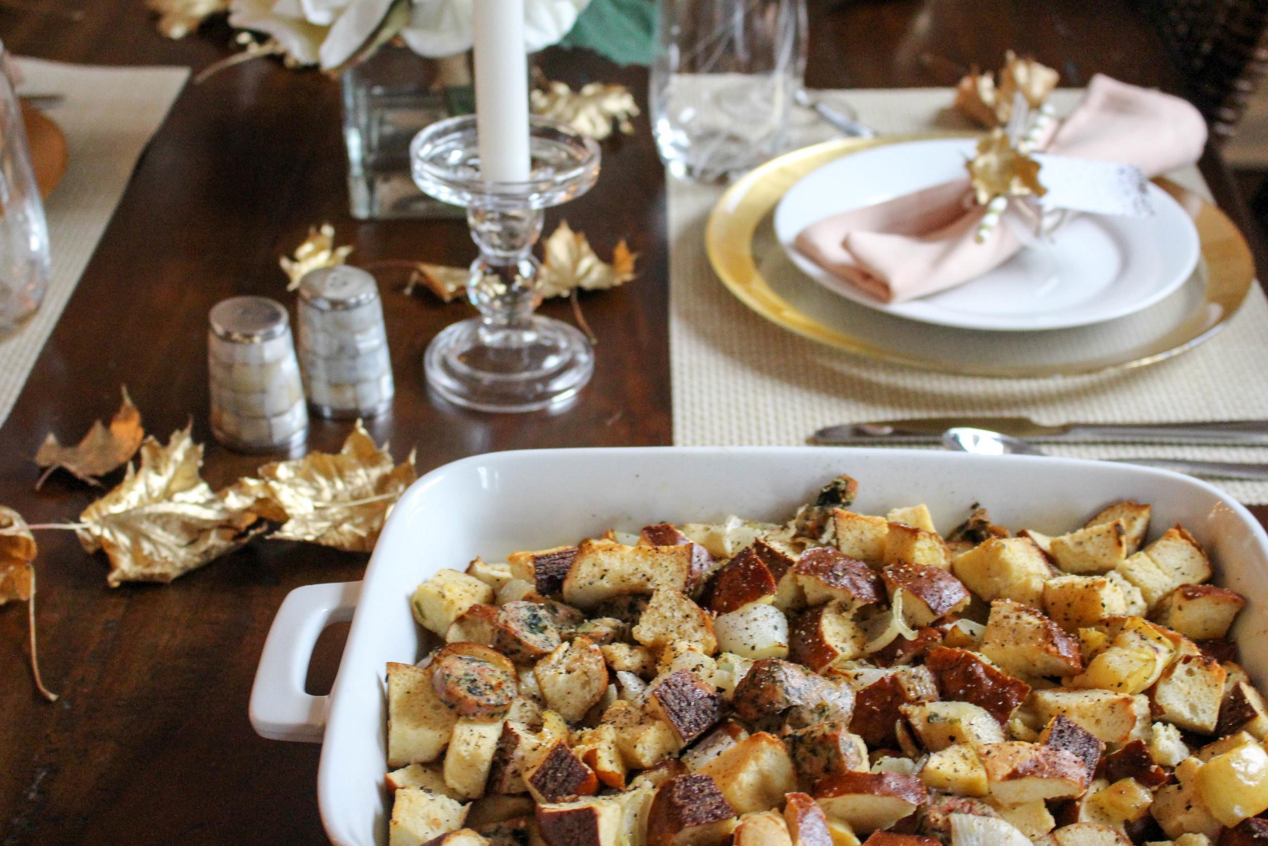 Thanksgiving Pretzel Bun Stuffing