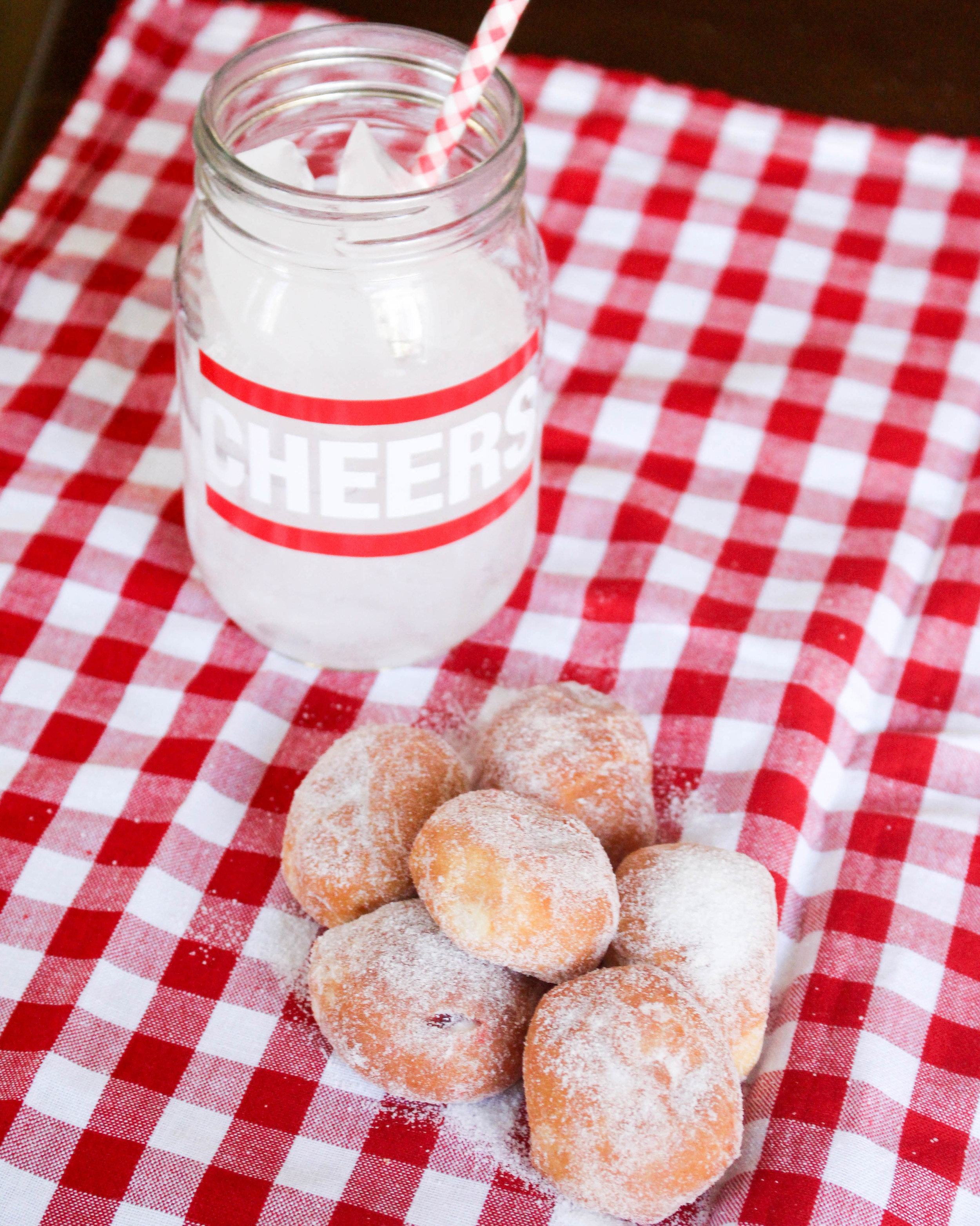 Jelly Filled Picnic Donuts