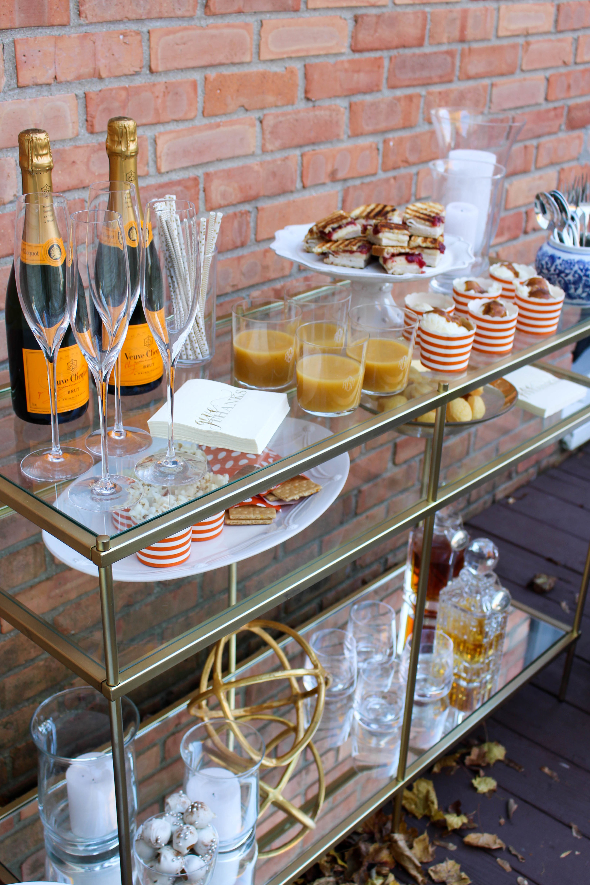 Martha Stewart Thanksgiving Bar Cart