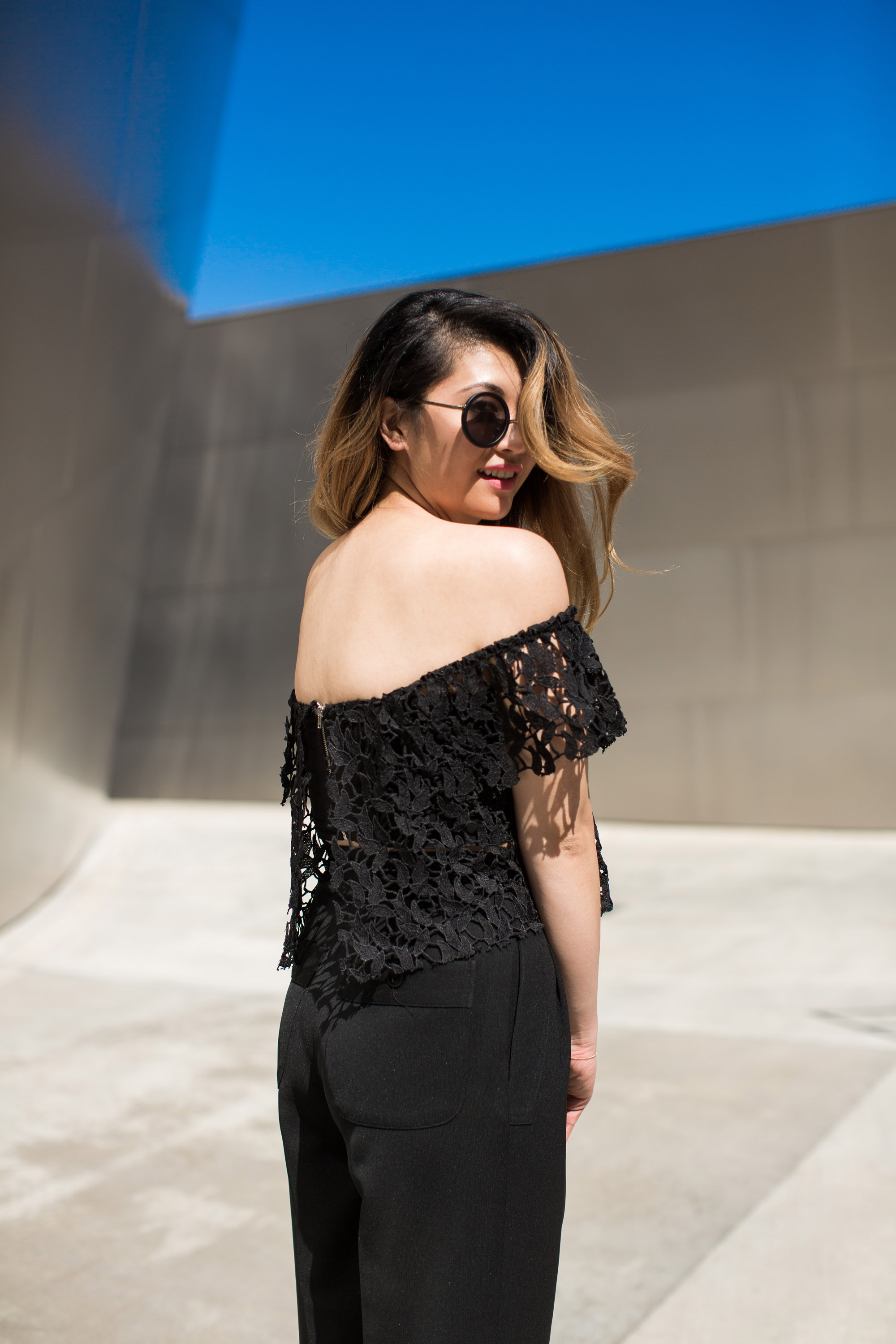 melissademata.com | Lace Off-the-Shoulder Crop Top