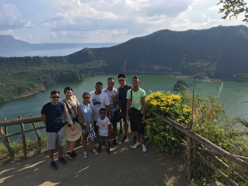 Visiting  TAAL VOLCANO  with Matt's cousins.