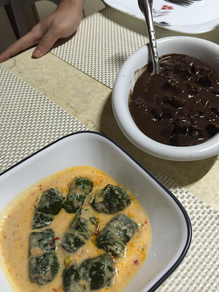 (top) - Dinuguan Na Bagnet (bottom) - Tinapa Stuffed Pechay