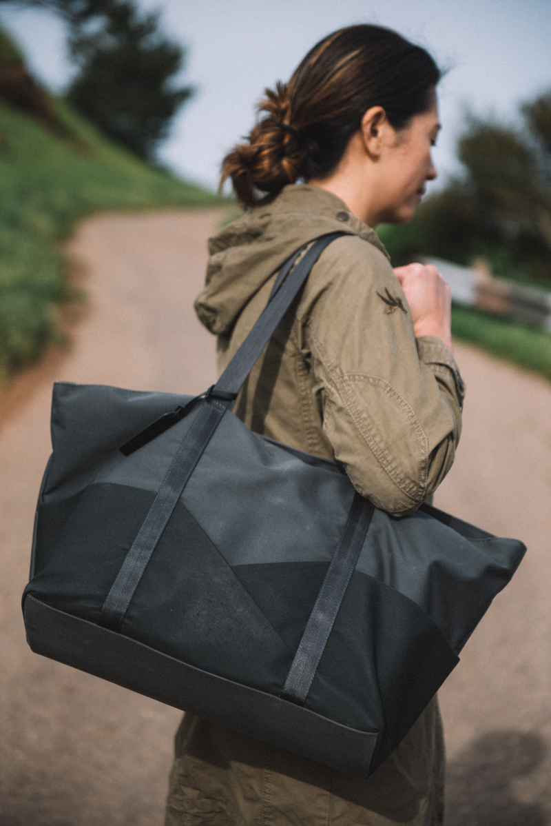 Charcoal Gray Tote Bag | Nadine by Aide de Camp