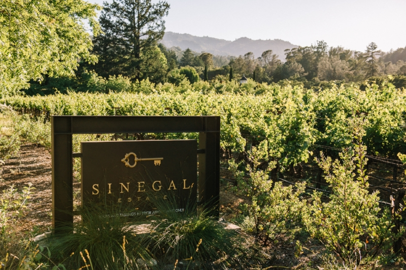 Sinegal Estate Winery, Saint Helena California