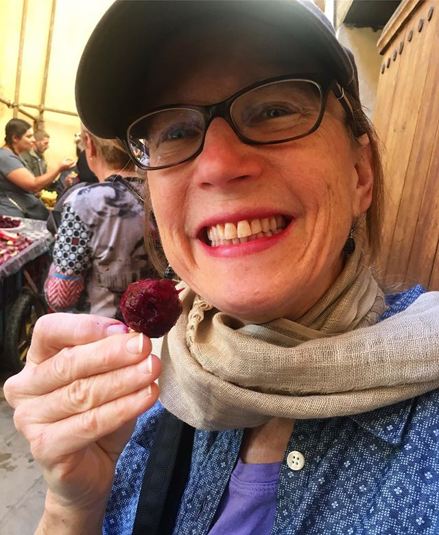 This is my Mama, eating fruit in Morocco! She shows me how it's fun to try new things and meet new people, and that it's important to be loud and fight strong. I miss you from the west coast! Happy Mama's day💥
