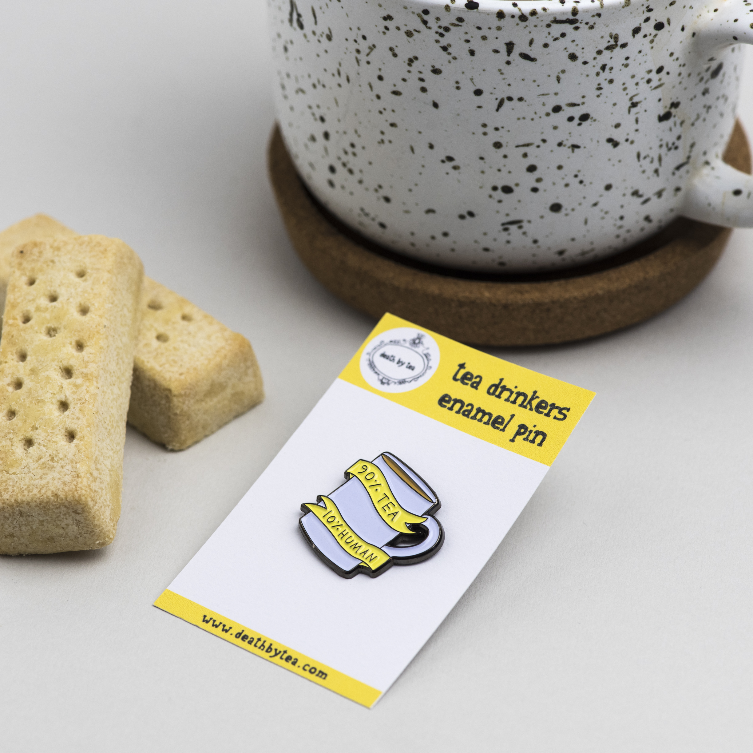 'Tea Drinkers' Enamel Pin Badge
