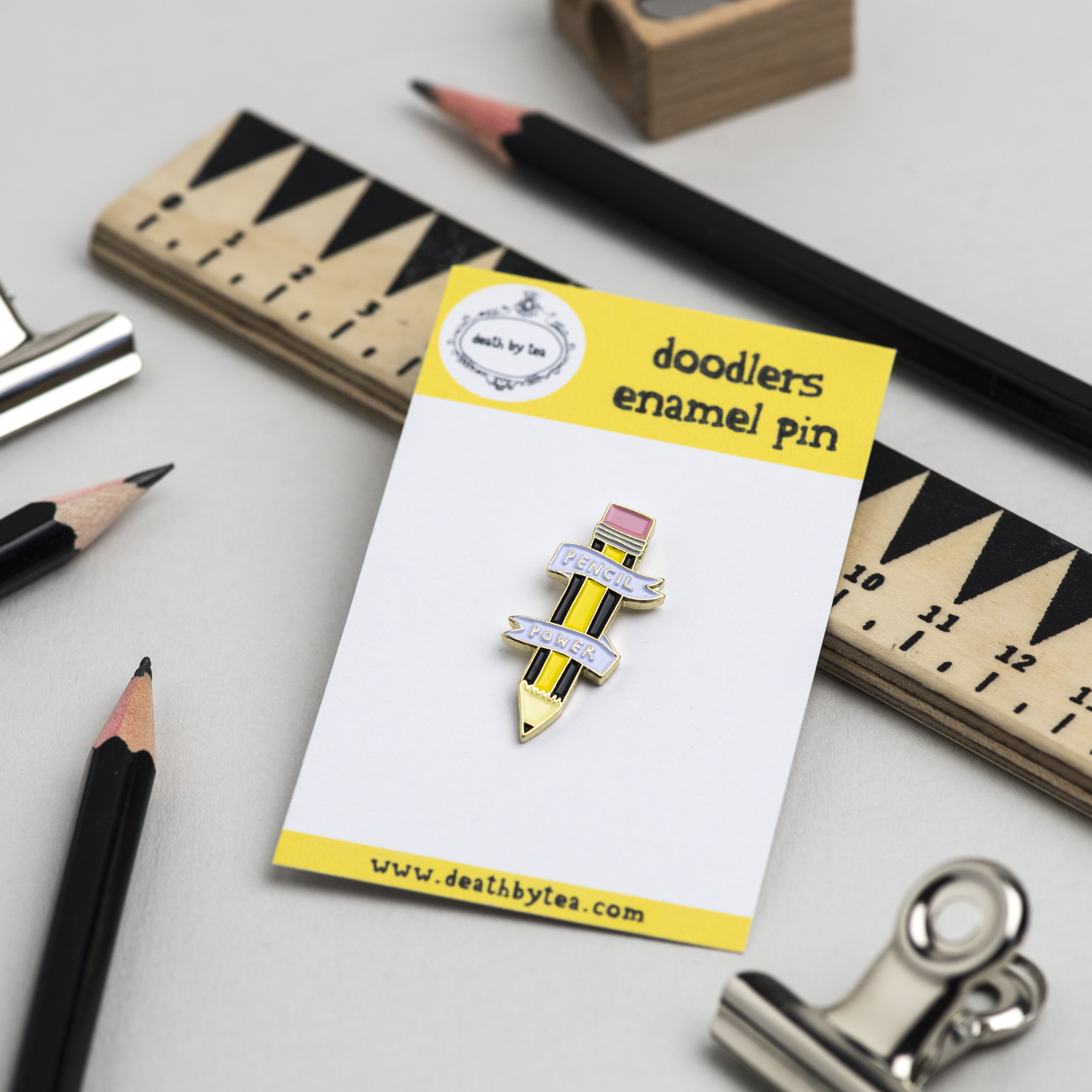 'Pencil Power' Enamel Pin Badge