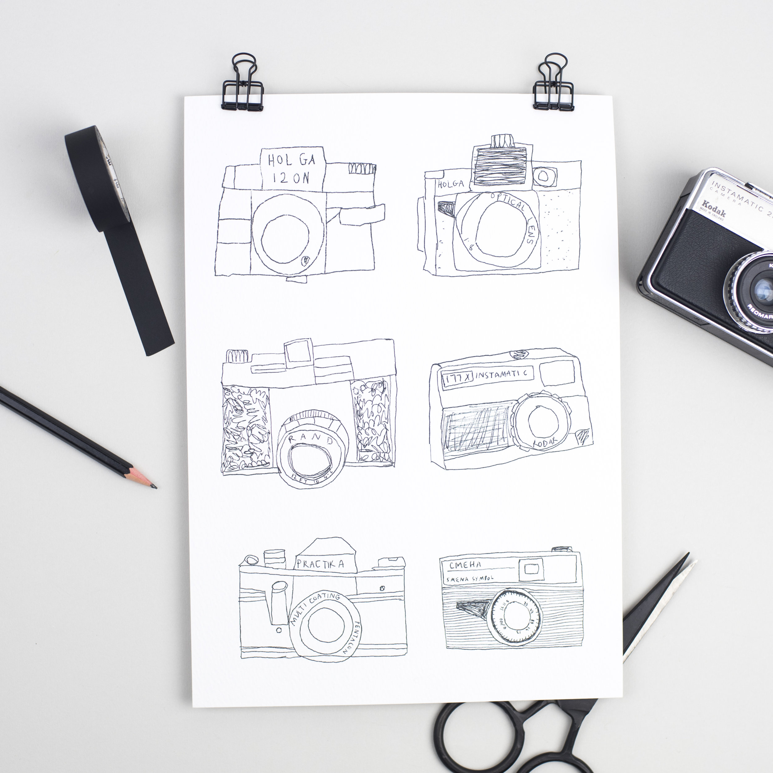 A4 'Camera Collection' Print