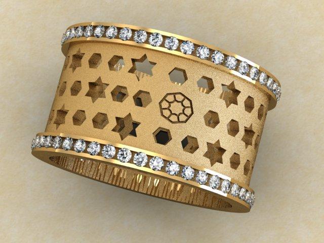 Barrel with diamonds