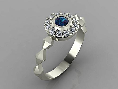 platinum ring with sapphire