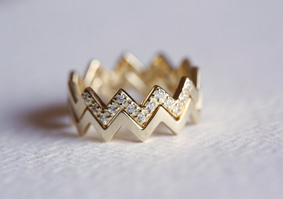 ZigZig Diamond Band