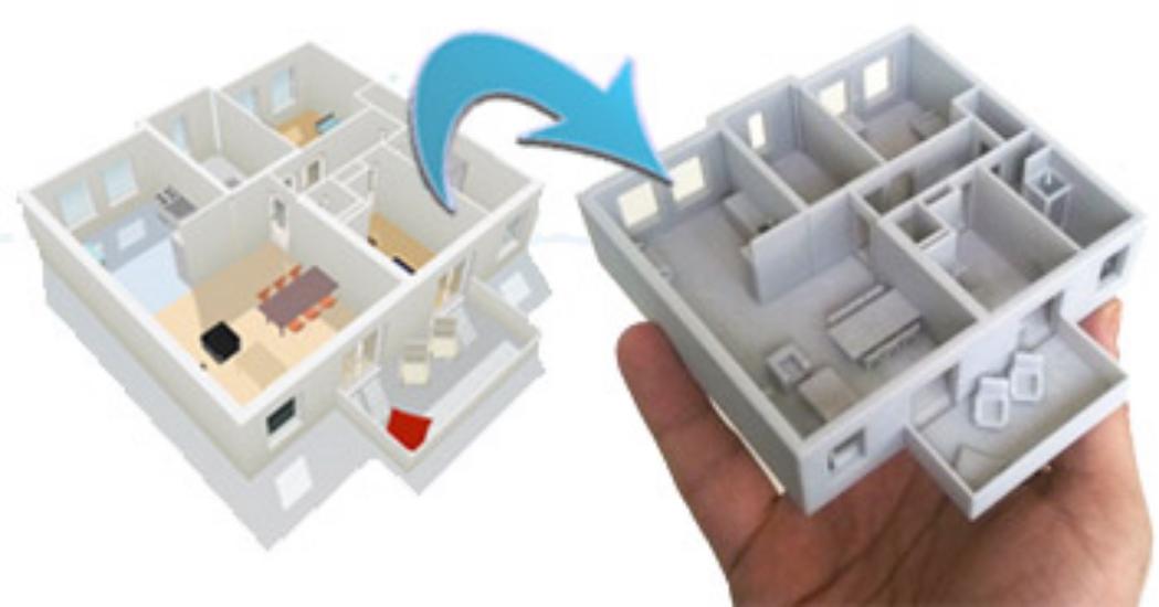 3D Printed Floorplan