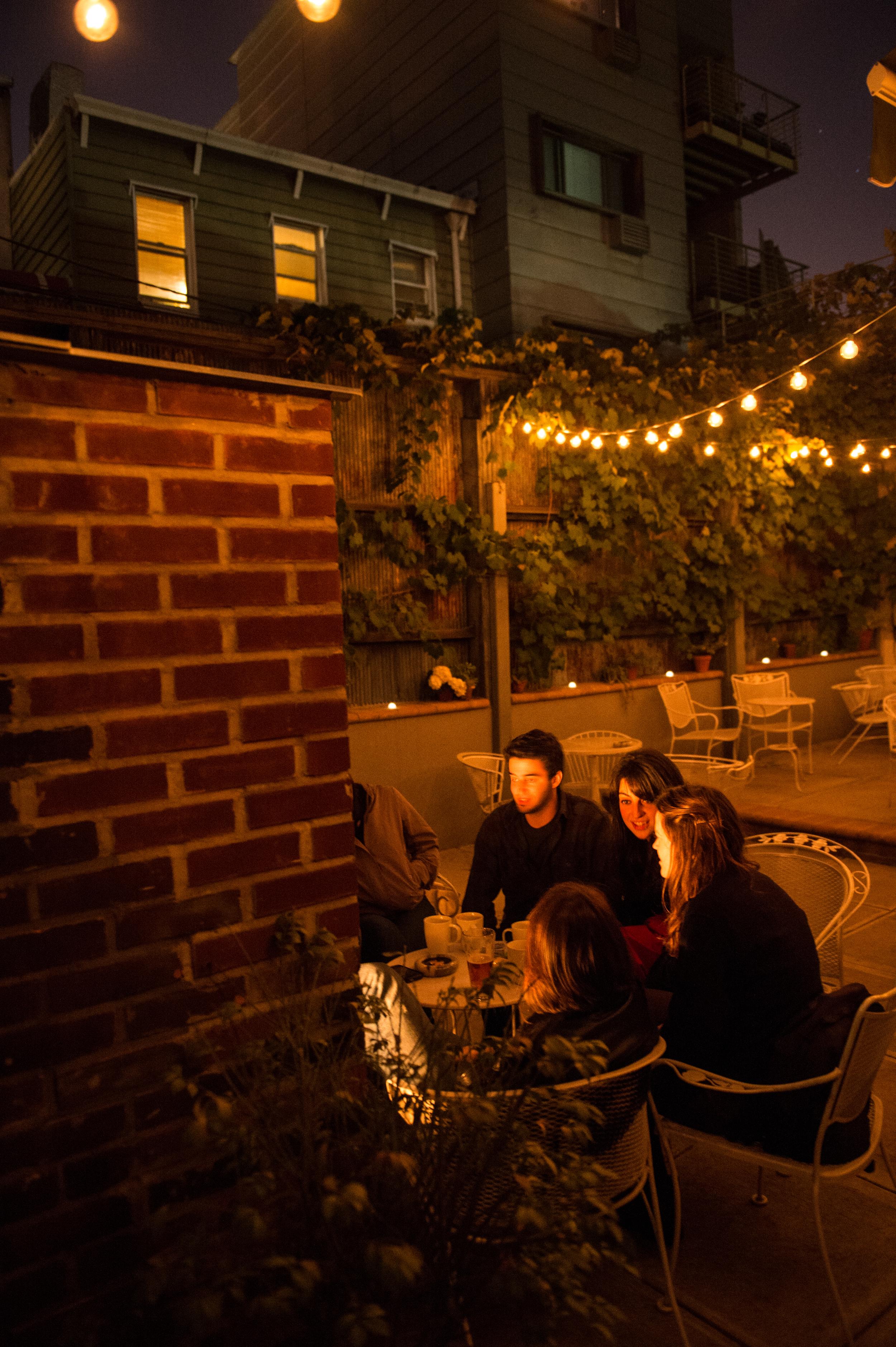outdoor fireplace brooklyn garden