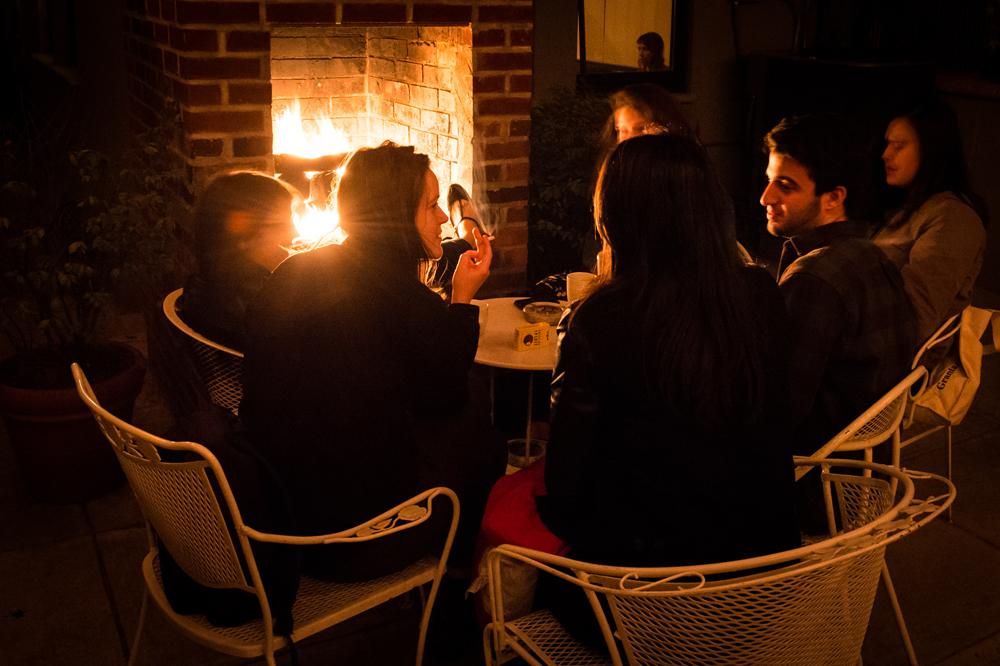 brooklyn fireplace garden bar