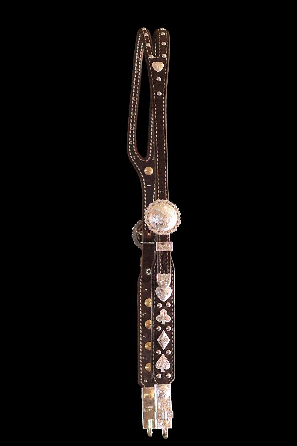 California Style Card Suit Headstall