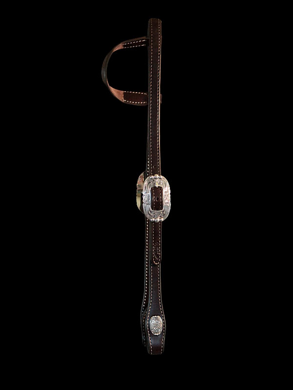 SLIDING EAR HEADSTALL WITH STERLING SILVER