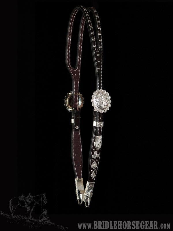 """5/8"""" HEADSTALL WITH CARD SUIT HARDWARE"""