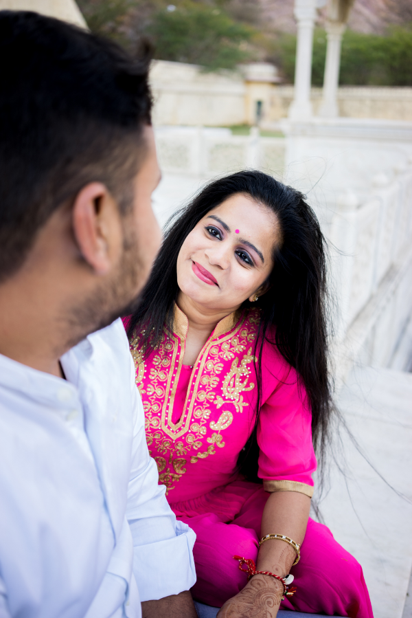 Richa said, It's perhaps the first time we would have spent so much time looking in to each others eyes. I said, You are welcome!