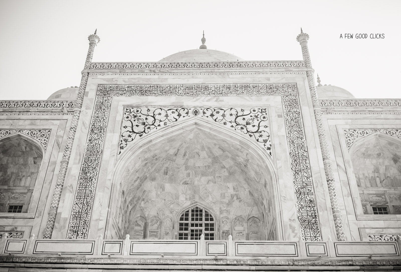 Exteriors of Taj Mahal in Monochrome |  Travel Photographs  by A Few Good Clicks