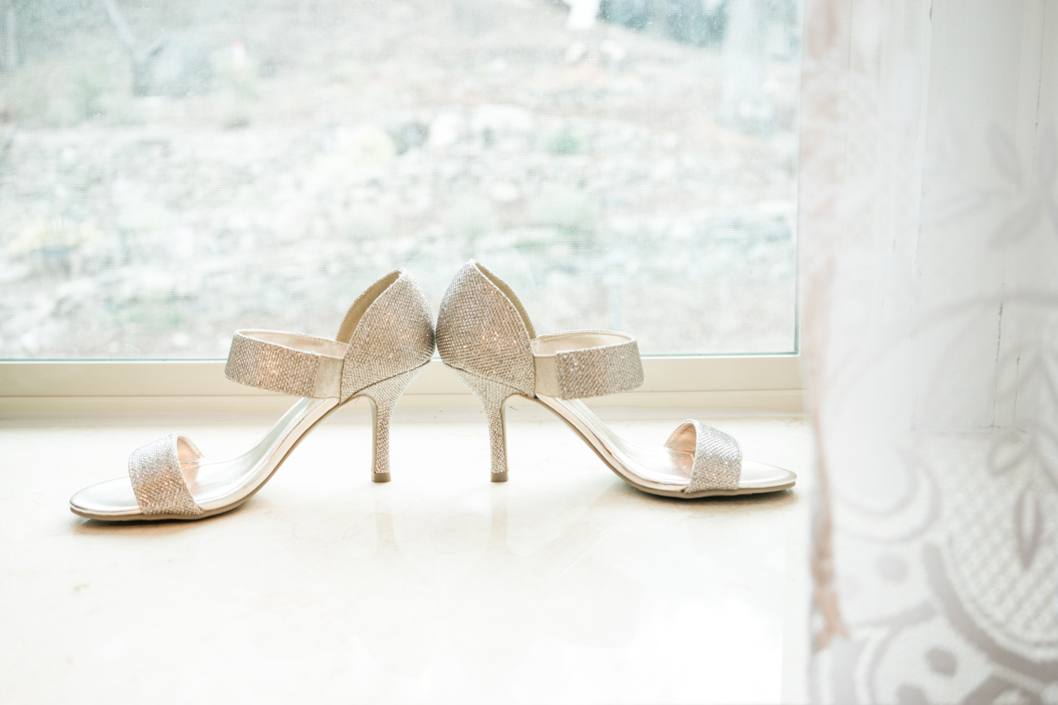 Bridal Shoes  - So what if they are not your typical Carrie Bradshaw's blue satin pumps? Key to best wedding photography checklist must begin with the bridal shoes.