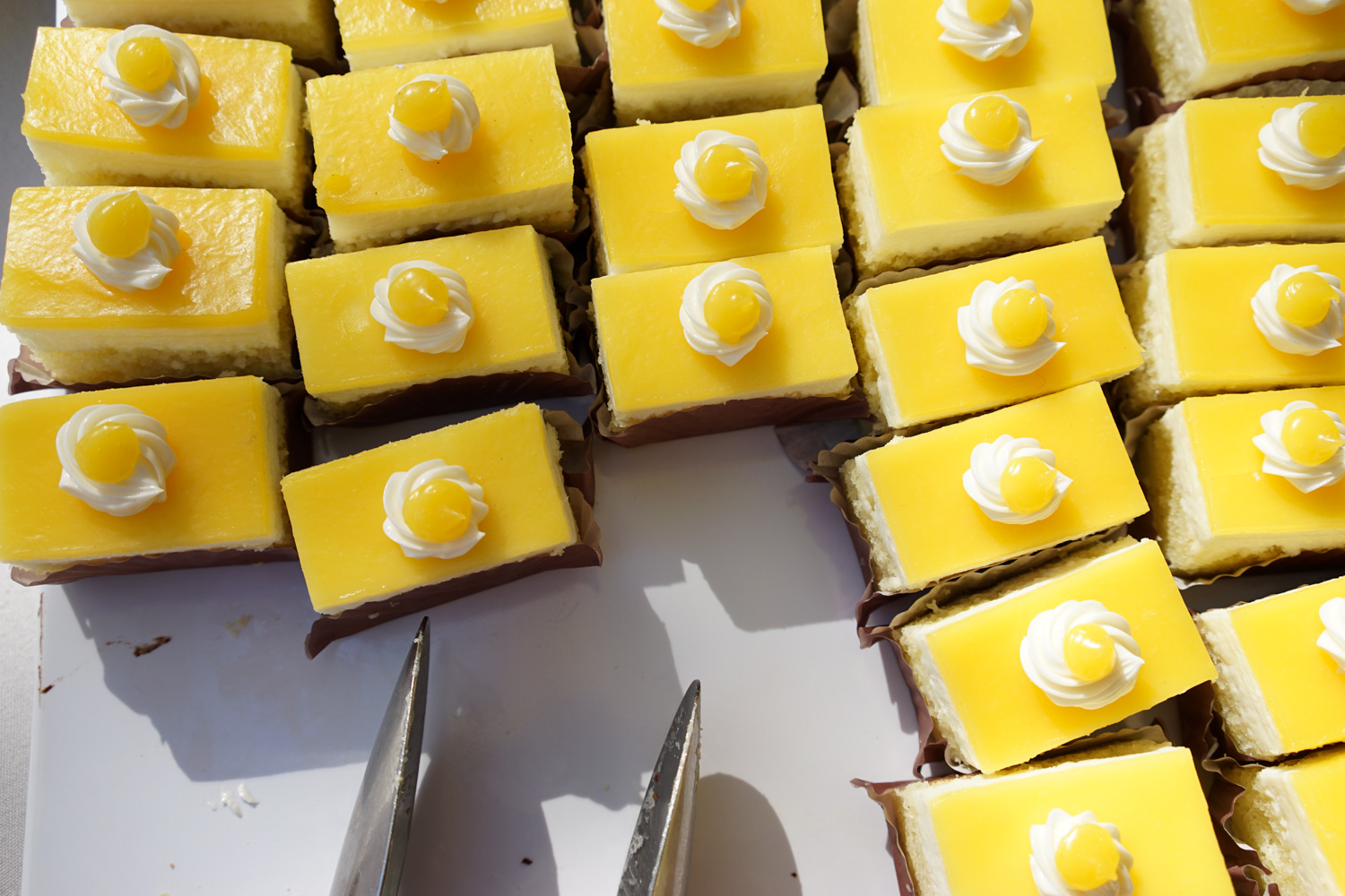 Yummy cakes at the demo day event organised by Google catering team