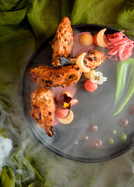dramatic-smoke-chicken-tikka-food-photographer