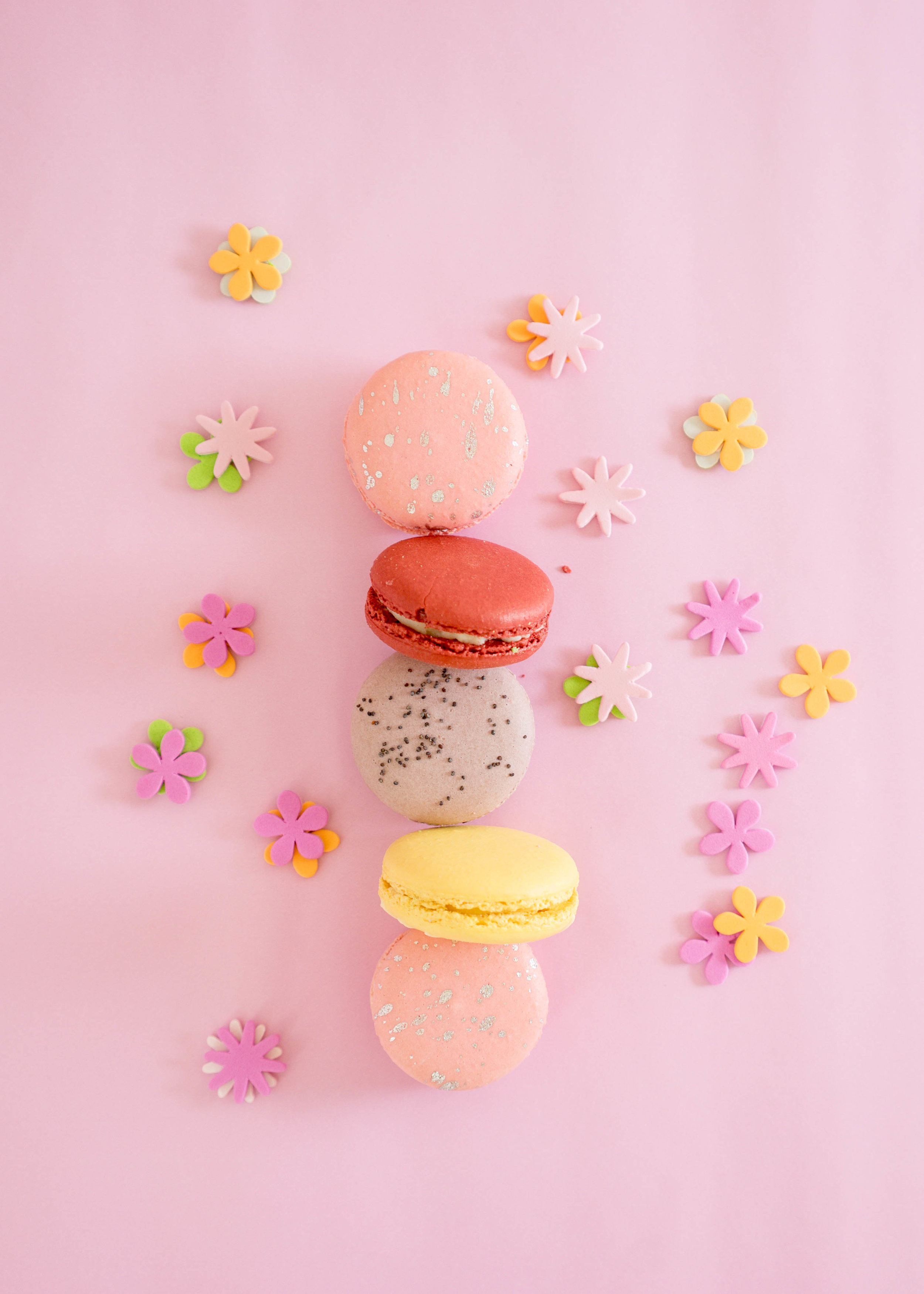 Image of Spring specials macarons.