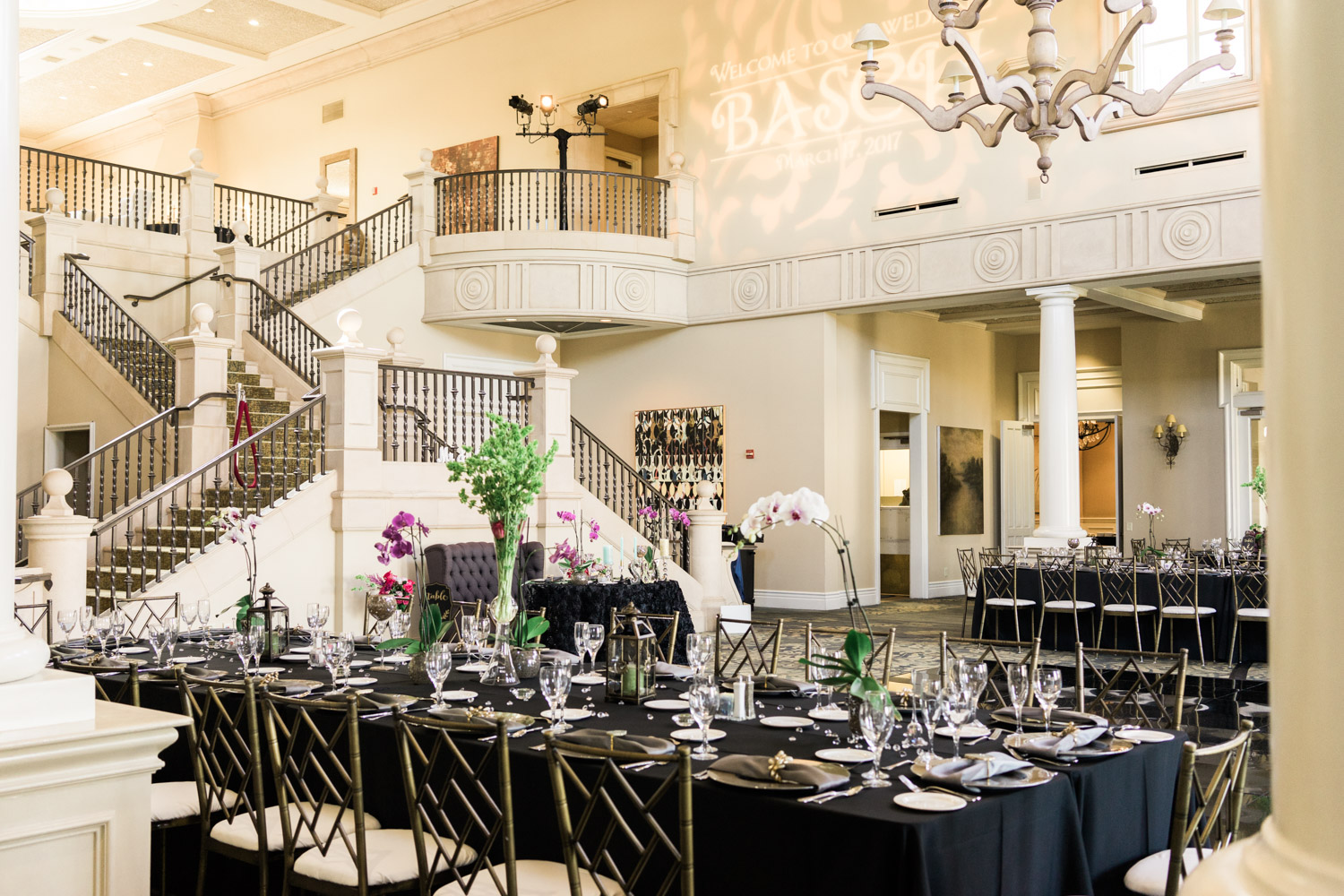 The dining room at the Club | Ruby Hill Wedding Photography