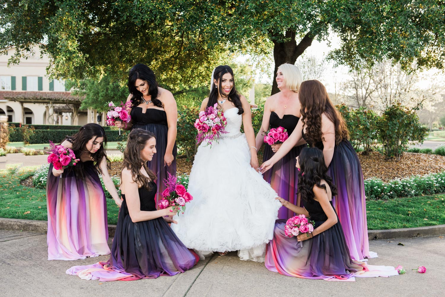Some more pictures of the bride and her friends.