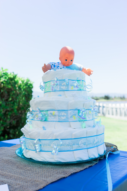 diaper-cake-little-man-theme-baby-shower-photography-shoreline-lake-boathouse-mountain-view
