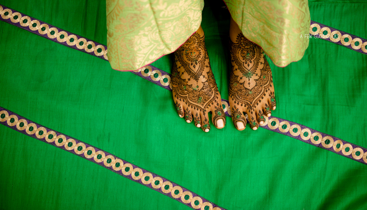 Mehndi design on green backdrop - My personal favourite.